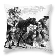 Frontier Family, 1755 Throw Pillow