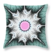 Frost Flower Throw Pillow