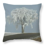 Frost On The Big Tree  Throw Pillow