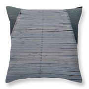 Frosted Dock Throw Pillow