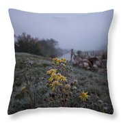 Frosted Flowers Throw Pillow