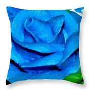 Frosting Rose Throw Pillow