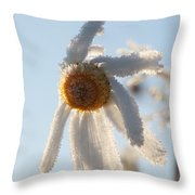 Frosty Flower Throw Pillow