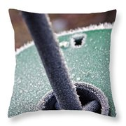Frosty Metal Throw Pillow