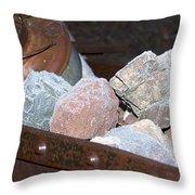 Frosty Rocks Throw Pillow