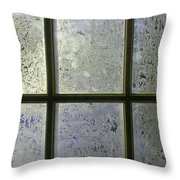 Frosty Window Pane Throw Pillow