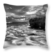 Frothy Seas Throw Pillow