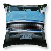Frowning Buick Throw Pillow