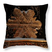 Frozen Flake Throw Pillow