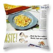 Frozen Food Ad, 1947 Throw Pillow