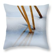 Frozen Lotus Throw Pillow