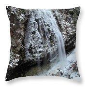 Frozen Narada Falls Throw Pillow
