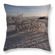Frozen Riviere Des Mille Iles - Qc Throw Pillow