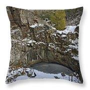 Frozen Sink Hole Throw Pillow