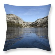Frozen Tenaya Lake Throw Pillow