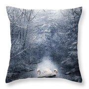 Frozen Time Throw Pillow