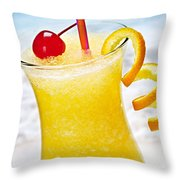 Frozen Tropical Orange Drink Throw Pillow