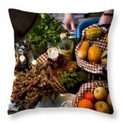 Fruit Arrangement Throw Pillow