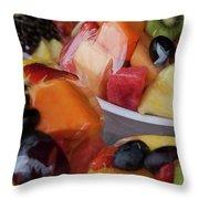 Fruit Cup Throw Pillow