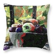 Fruit In Autumn Throw Pillow