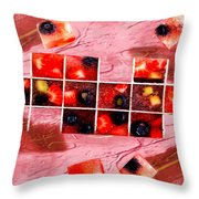 Fruit Square Ups Throw Pillow