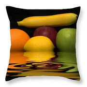 Fruity Reflections Throw Pillow