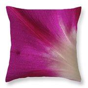 Fuchsia Morning Glory Throw Pillow