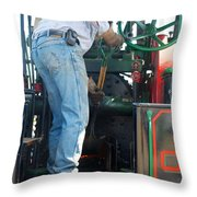 Fueling The Case Throw Pillow