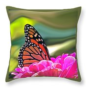 Fueling Up To Ride The Wind Throw Pillow