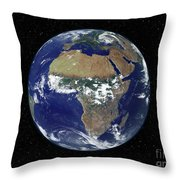 Full Earth Showing Africa And Europe Throw Pillow