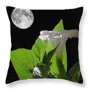 Full Moon Flower Throw Pillow