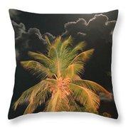 Full Moon In The Caribbean Throw Pillow
