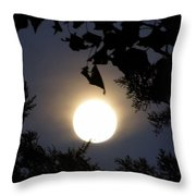 Full Moon Late Night Spain  Throw Pillow