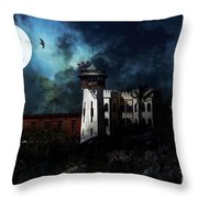 Full Moon Over Hard Time - San Quentin California State Prison - 7d18546 Throw Pillow