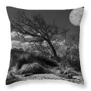 Full Moon Over Jekyll Throw Pillow