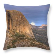 Full Moon Rise Behind Half Dome 2 Throw Pillow
