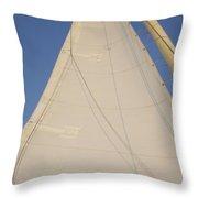 Full Sail Throw Pillow
