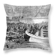 Fulton Ferry Boat, 1868 Throw Pillow