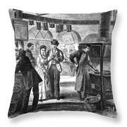 Fulton Fish Market, 1870 Throw Pillow
