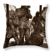 Fulton Square New Orleans Throw Pillow