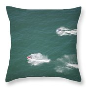 Fun On The Pond Throw Pillow by Thomas Woolworth