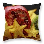 Fun With Fruit Throw Pillow