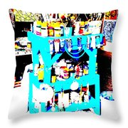 Funky Balinese Artist Toolkit  Throw Pillow