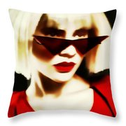 Funky Red Glasses Throw Pillow