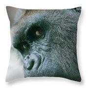 Funny Gorilla Throw Pillow