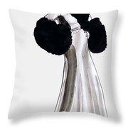 Fur Coat Throw Pillow