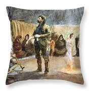 Fur Trader Throw Pillow
