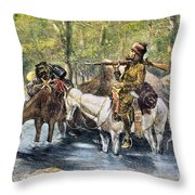 Fur Trapper Throw Pillow