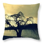 Furman Lake Tree Throw Pillow