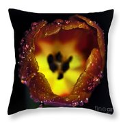 Furnace In A Tulip Throw Pillow